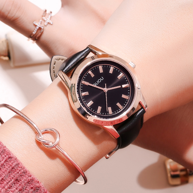 Women Watch 2018 Fashion Simple Women's Leather Quartz Watch Luxury Gold Ladies Watch Clock Relogio Feminino Saat reloj mujer