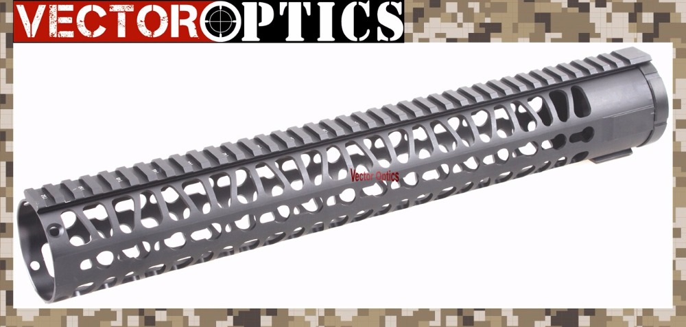 TAC Vector Optics AR10 KeyMod 15 inch Tactical Free Floating One Piece Handguard Picatinny Rail Mount Bracket fit DPMS .308 7.62 vector optics galil golani tactical handguard quad rail picatinny scope mount system fits century full metal new black