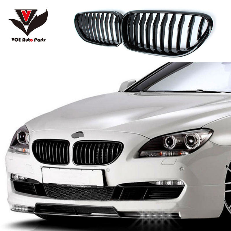 F06 F12 F13 Kidney Carbon Fiber Front Racing Grill Grille for 2011-2016 BMW 6 Series 630i 640i 650i Matte/Gloss Black/ 3-Color 1sheet matte surface 3k 100% carbon fiber plate sheet 2mm thickness