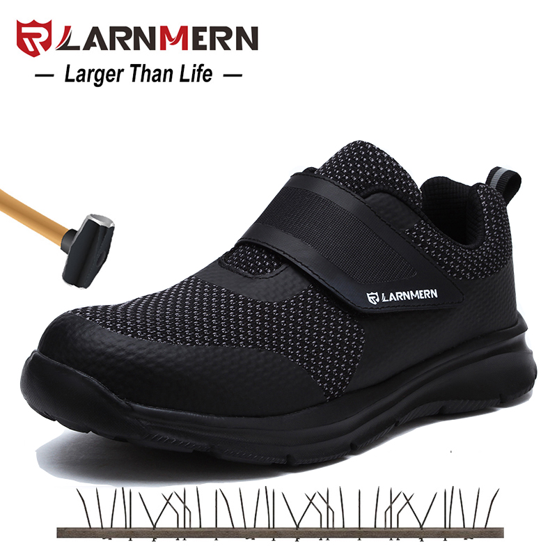 LARNMERN Men's Safety Shoes Steel Toe Construction Protective Footwear Lightweig