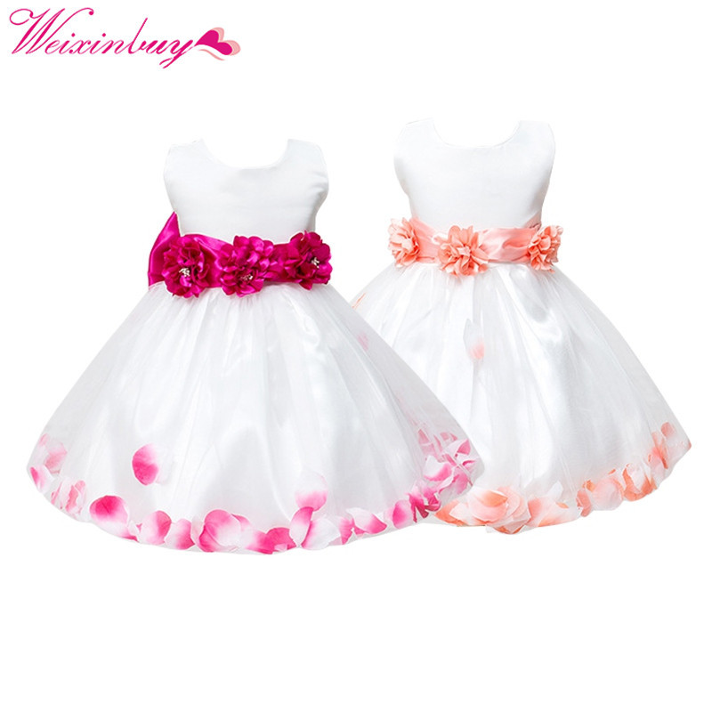 Dress For Gils Baby Girl Clothes Flower Pageant Wedding Toddler Baby Princess Dresses Pa ...