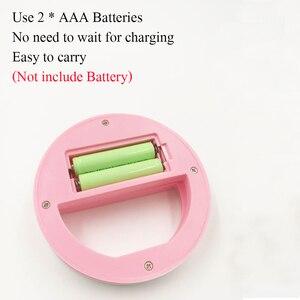 Image 4 - Litwod Lámpara selfi portátil con Clip para teléfono móvil anillo Led de belleza, luz de Flash de relleno, batería AAA seca de emergencia para celebridades