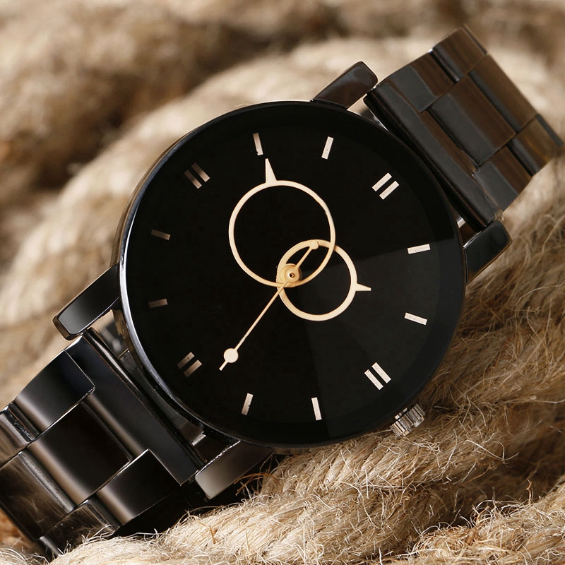 KEVIN Metal Iron Paris Eiffel Tower Analog Quartz Wristwatch Men Lovers Women Watches Black Steel Band Clock Lady Christmas Gift
