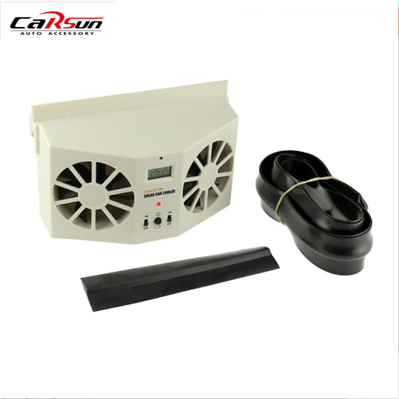 Solar Sun Power Car Auto Air Vent Cool Fan Cooler Ventilation System Radiator Can Use Battery Car Air Purifiers