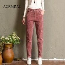 Фотография ACRMRAC Autumn And Winter Plus cashmere High waist Corduroy Thick corduroy Loose Thin Harlan Pencil pants casual pants