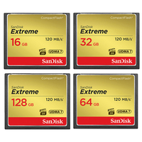 100% Original SanDisk CF Card 256GB 128GB 64GB 32GB 16GB Extreme Pro High Speed Flash Card for DSLR and HD Camcorder for Camera