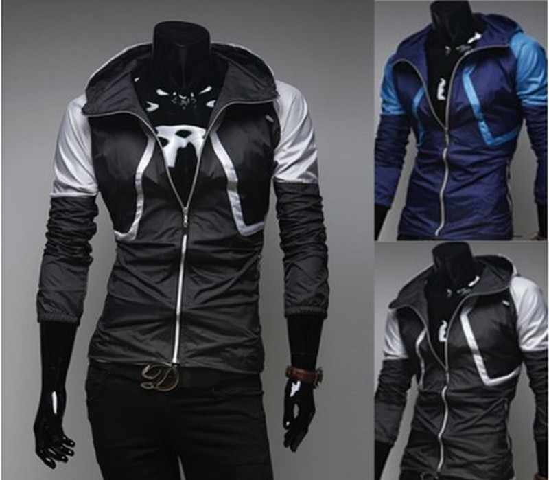2019 Spring Summer Men's Waterproof Jacket Color-matched Cap Breathable Thin Functional Jacket Comfortable Convenient M-XXL