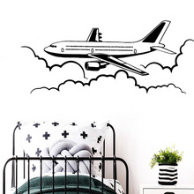 Funny aircraft Pvc Wall Decals Home Decor For Living Room Bedroom Removable