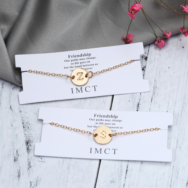 Fashion Gold Color Letter Bracelet & Bangle  3