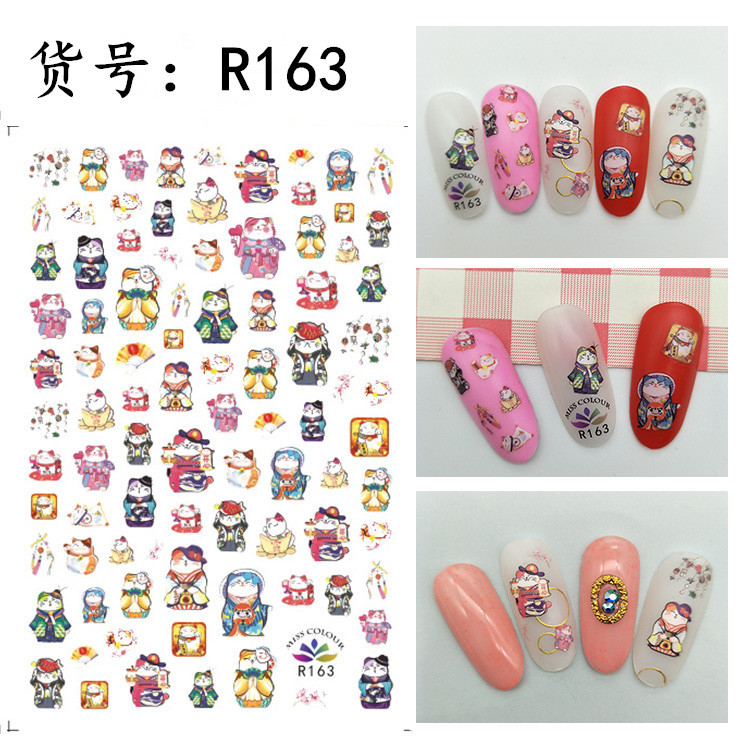 NOQ 1PC Nail Art Accessories Stickers Mixed Water Transfer Nails Decal Cartoon Manicure Slider DIY Nail Table Decoration