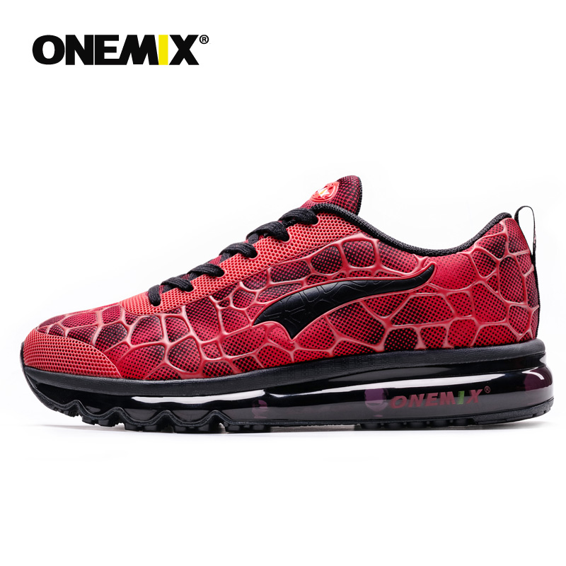 [Disc 32%] ONEMIX Air Cushion Running Shoes for men Sports Shoes Breathable Trainer Walking shoes in red for Jogging Shoes Outdoor Walking
