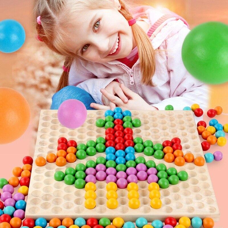 Nouveau Montessori enfants jouets éducatifs de la petite enfance 1-3 ans puzzle enfants perles clip marbres jouets nourrissons