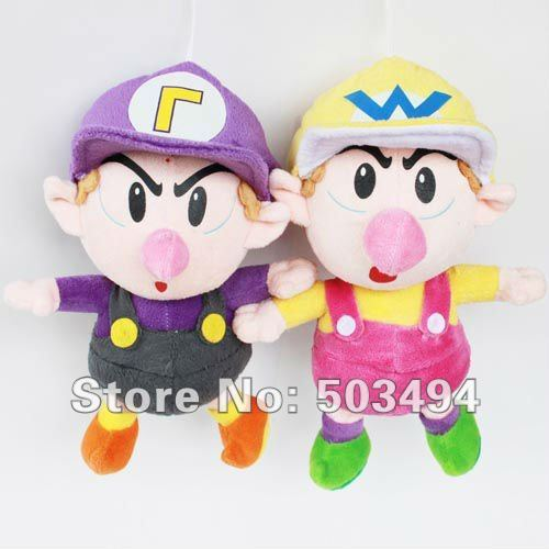 "4 styles!! Baby Mario,waluigi,luigi,wario baby plush Super Mario Bros Baby Mario Plush Toy Soft Doll Stuffed Animal 9"" Teddy"