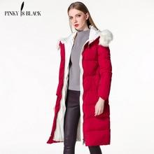 Winter Cotton-padded Jacket Women 2016 X-Long Female Large Fur Collar Hooded Thickening Plus Size Warm Winter Coat Women Parka