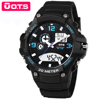 OTS Luxury Brand Men S Sports Watches Outdoor Waterproof Quartz Watch Men Watch LED Digital Watch