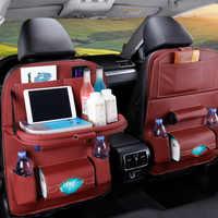 Pu Leder Pad Tasche Auto Sitz Zurück Organizer Faltbare Tisch Tablett Reise Lagerung Tasche Faltbare Esstisch Auto Sitz Lagerung tasche