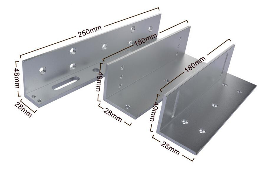 ZL Bracket For 280KG Electric Magnetic Lock Install High-Strength Aluminum Alloy ,Install On Wooden/ Metal Door Frame sn:280ZL electric bolt lock bracket bolt lock bracket on auto gate or sliding door