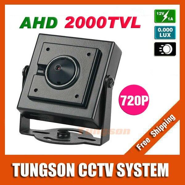 NEW Product AHD 2000TVL Micro Video Surveillance 3.7mm Pinhole Lens Security 1.0MP 1280*720P Mini CCTV Camera Free Shipping