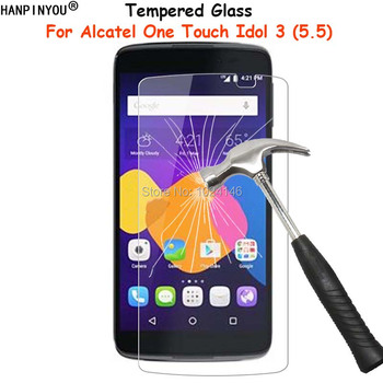For Alcatel One Touch Idol 3 5.5 6045Y Clear Tempered Glass Screen Protector Ultra Thin Explosion-proof Protective Film Guard image