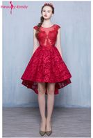 2016 Fashion Wine Red Lace Sleeveless A Lin Short Cocktail Dress The Bride Party Gown Sexy