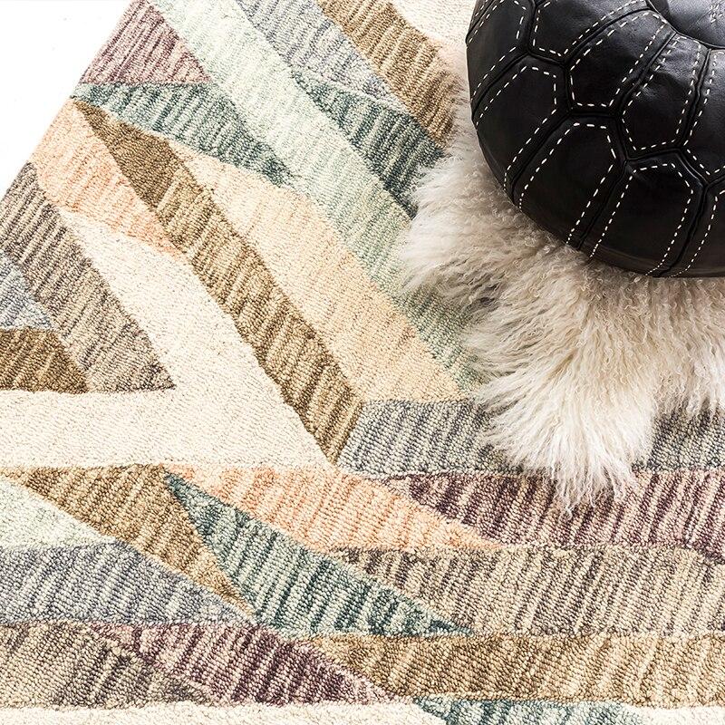Индийский ковер килим шерсть новый список ручной сшитой рукодельной - 4
