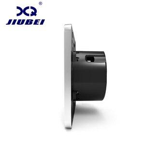 Image 2 - Jiubei الاتحاد الأوروبي زر تبديل جداري قياسية 2 طريقة التحكم التبديل ، الكريستال والزجاج لوحة ، الجدار ضوء مفاتيح شاشة لمس ، C701S 11/12/13