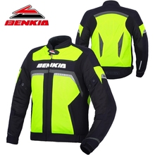 BENKIA Motorcycle Jacket Spring Summer Jacket Motorcycle Protector Motorcycle Racing Reflective Travel Riding Moto Jacket JS35