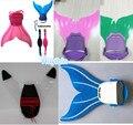 NUEVOS Niños Niños Chicas cola de Sirena Monofin Aletas de Natación Juguete Sirena Colas aleta mono Prop para niños Kids