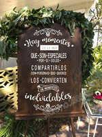 Casamento espanhol adesivos de parede hay momentos en la vida arte citações decalques placa do casamento decoração de vidro vinil papel parede removível lc676