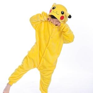 animal Pajamas Kids Boys Girls Pijama Pikachu Anime Costume Cosplay Winter Children Pajamas Christmas Children's Onesie clothing