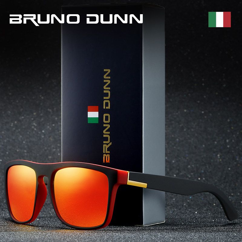 Bruno dunn Sport Sunglasses Polarized Men For Sunglases male Square Color Mirror Luxury Brand Designer uv400 high quality 2020(China)
