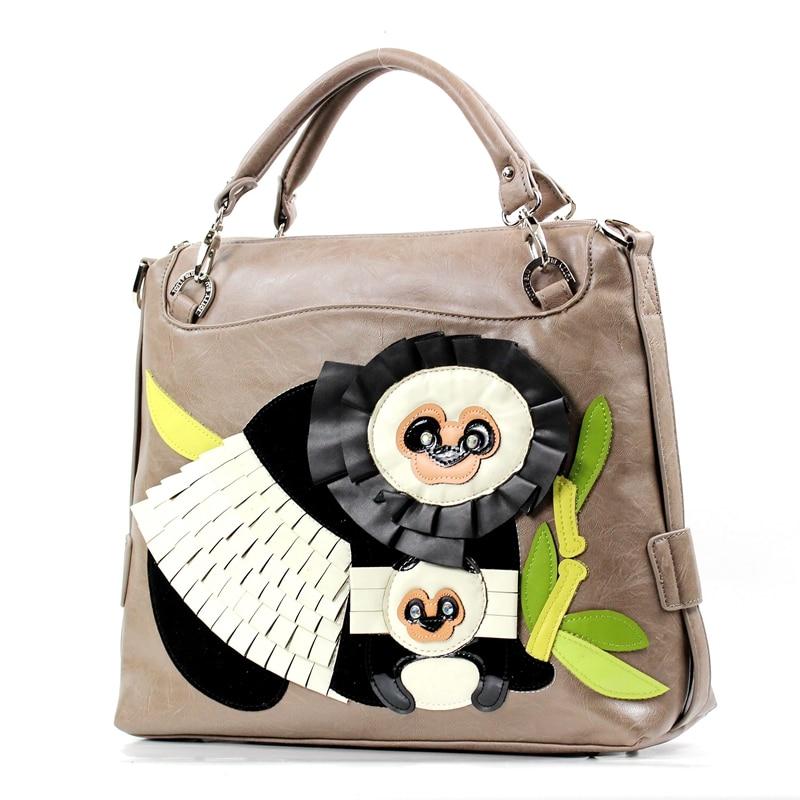 Femme Bande Sj Art Marque De Cuir Femmes Braccialini À Totes Panda Bag Messenger Main En Dessinée Artisanat Sac Bandoulière Sacs Style qpFYq4