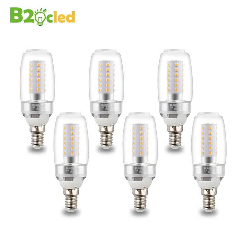 2 шт./лот E27 E14 светодиодные лампы diamond лампы AC 220 В SMD 5730 Светодиодные 36leds Кукуруза лампы Люстра для дома Освещение теплый белый