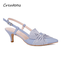 MaxMuxun Women High Heels Pointed Toe Pumps New Style Ladies Butterfly Knot Party Dress Shoes For Office Lady