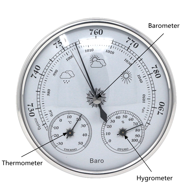 Analog Barometer Thermometer Hygrometer Wall Hanging Temperature Humidity Monitor Atmospheric Pressure Meter for Home use indoor air quality pm2 5 monitor meter temperature rh humidity