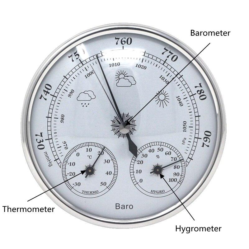Analog Barometer Thermometer Hygrometer Wand Hängen Temperatur Feuchtigkeit Monitor Atmosphärendruck Meter für den heimgebrauch