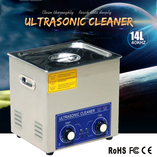 14L Best ultrasonic cleaning device for parts washing like screw,gear or bearing with timer and heater.discount