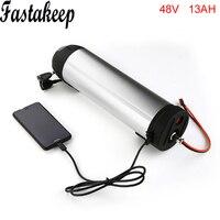 48V 13Ah Li ion Water Bottle eBike Battery for BBS02 Bafang 48V 750W mid drive Motor kit For Samsung cell