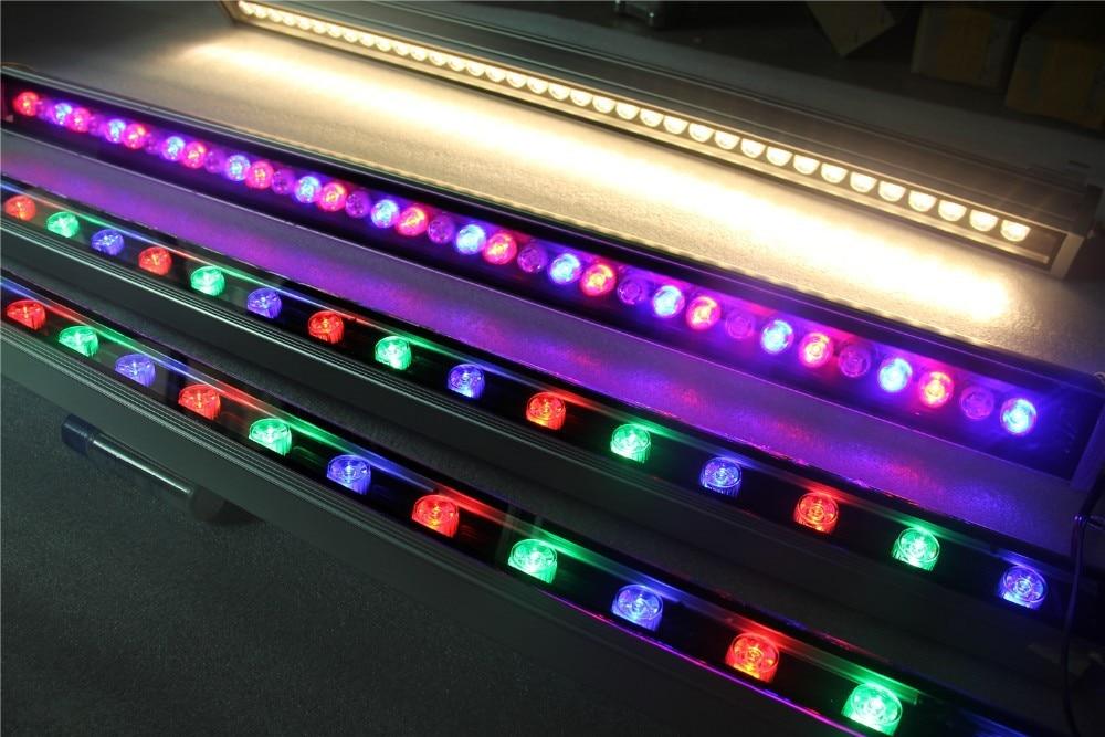 LED RGB Wall Washer light 36W 12R 12B 12G DMX512 RGB Warm White Linear Flood Light недорго, оригинальная цена
