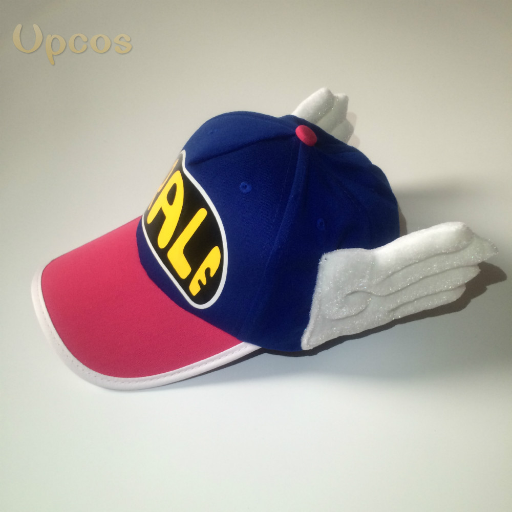 Kids Arale Hat Adjustable Angel Wings Arale Cap Anime Hat Children Baby Boys Girls Sun Hat Kids Sunbonnet Summer Cap