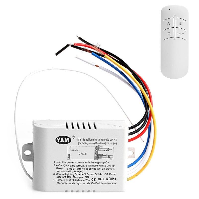 1/2/3 Channel Lumiere Telecommande sans fil commutateur Recepteur Transmetteur 3 виагра 1 2 3