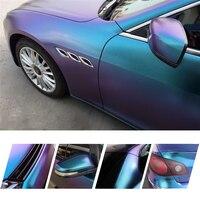 Премиум качества фиолетовый глянцевый синий Хамелеон алмазный блеск винил Обёрточная бумага пленка пузырь бесплатно для авто украшения 5ft