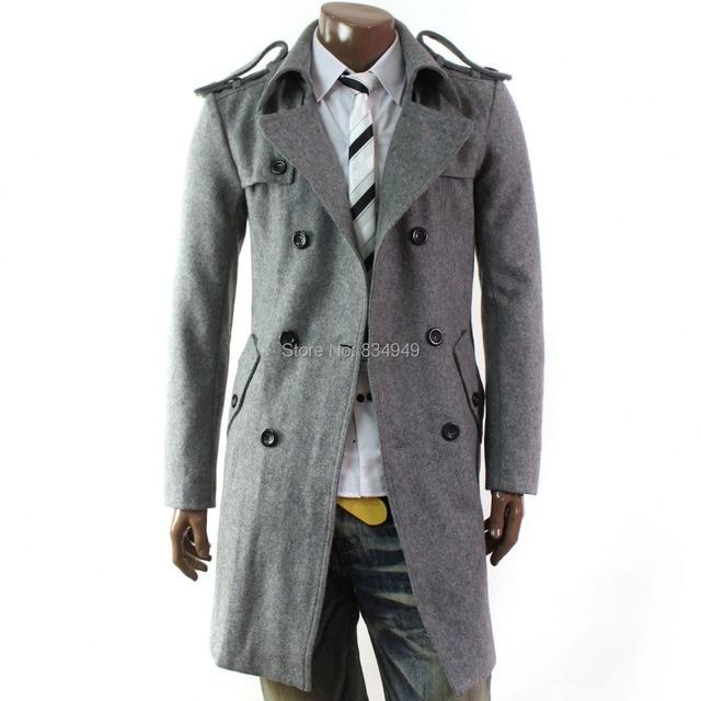 e014eefbd898 Custom Made Grey Trench Coat Men, Double Breasted Winter Overcoat Men Long  Coat, Cashmere