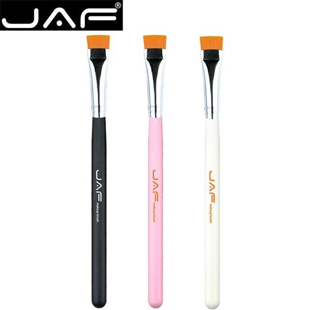 JAF a estrenar llegar profesional pelo sintético delineador de ojos cejas maquillaje brocha portátil ojo maquillaje brochas herramienta para uso diario