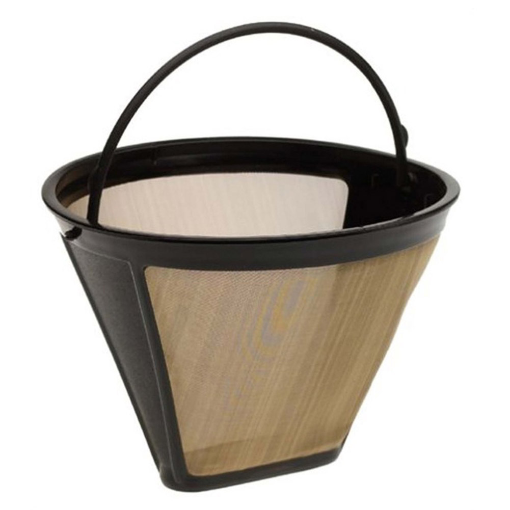 reusable coffee filter 10 12 cup permanent cone style coffee maker 1634 machine filter gold mesh. Black Bedroom Furniture Sets. Home Design Ideas