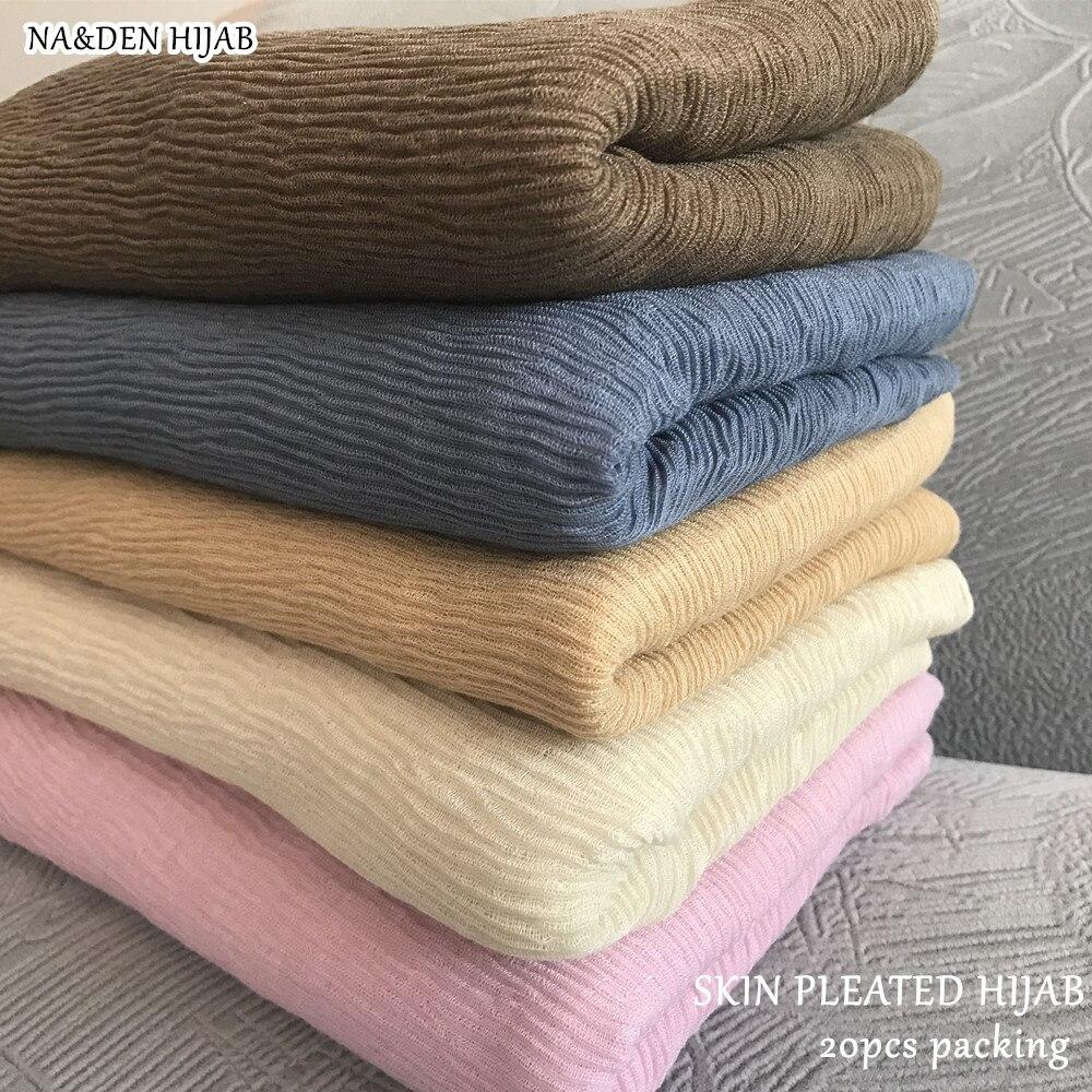 20pcs NEW fashion pleated hijab scarf plain crinkle shawl muslim hijabs women plain maxi scarves shawls