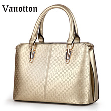 2016 Brand Fashion Women Diamond Lattice Top-handbag Pu Leather Tote Large Bag Solid Color Shoulder Bag Ladies Messenger Bag