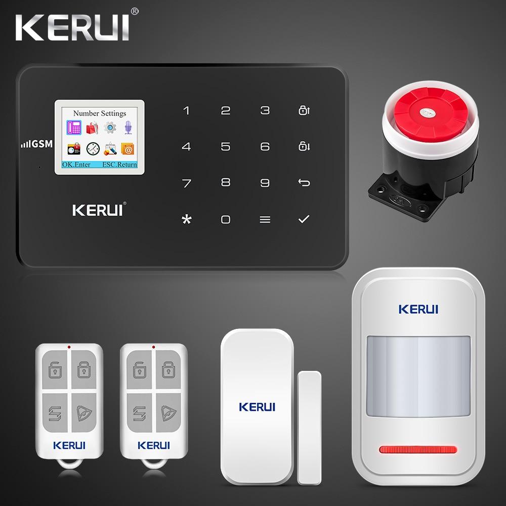 kerui G18 GSM Alarm System TFT Android IOS APP Touch keypad  Android ISO App Smart Home Burglar Alarm  System DIY Motion Sensor 1
