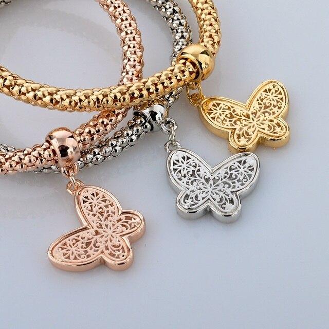 Фото chicvie золотые полые бабочки дружбы браслеты и очаровательные цена