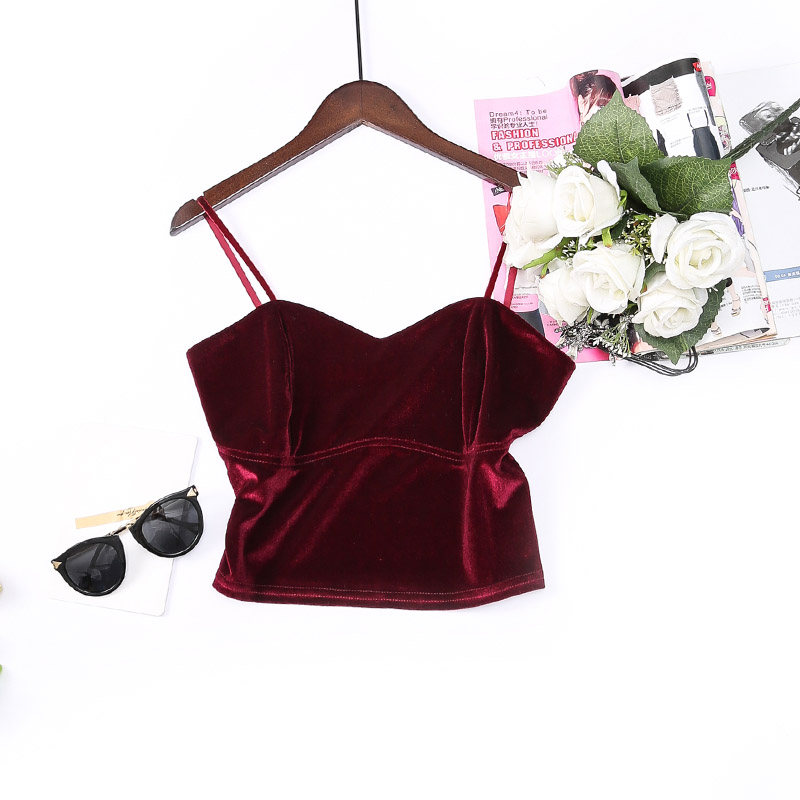 Basic Cropped Camis Fashion Women Tank Top Streetwear Sexy Elastic Straps Crop Top 2019 Summer Short Bustier T shirts Tees in Camis from Women 39 s Clothing